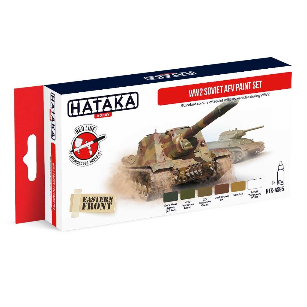 【再入荷】HTK-AS95 WWII ソビエト陸軍 水性アクリルカラー6本セット