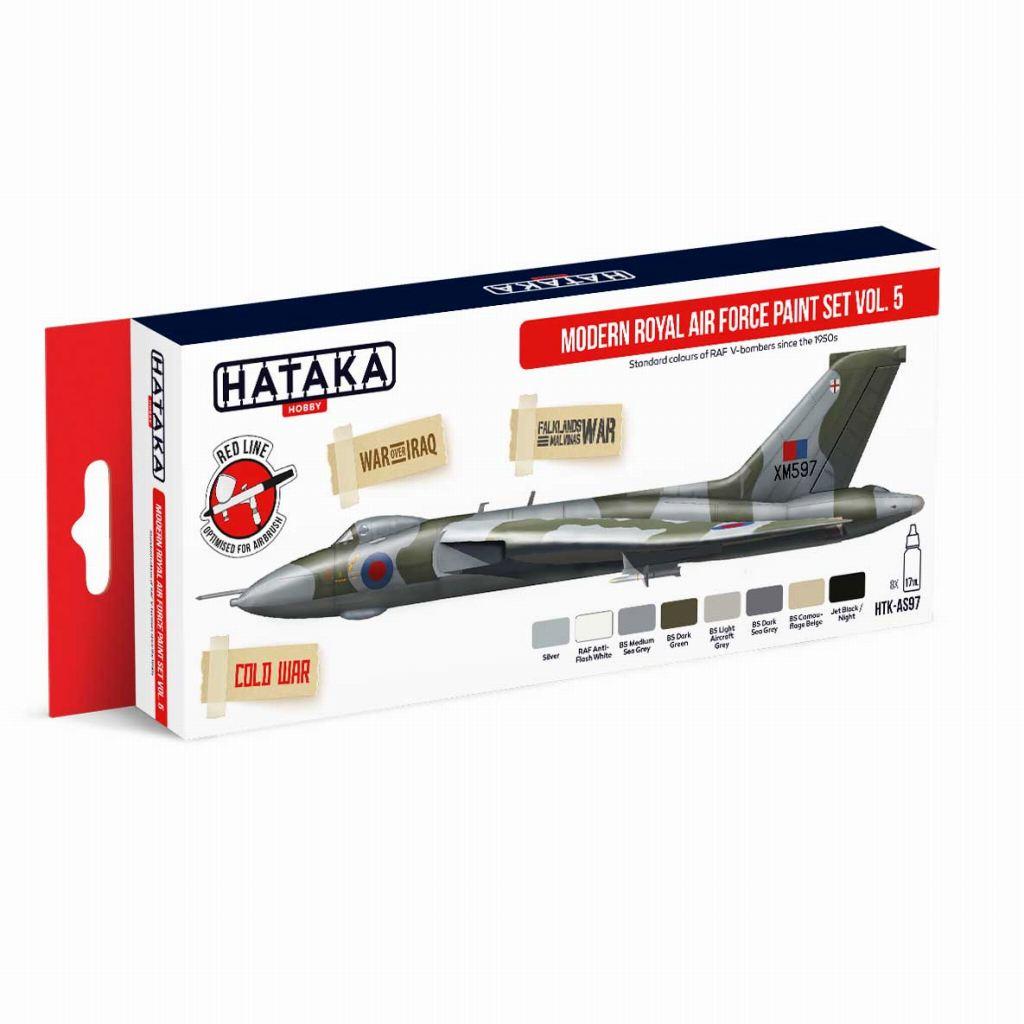 【再入荷】HTK-AS97 現用 イギリス空軍 Vol.5 水性アクリルカラー8本セット
