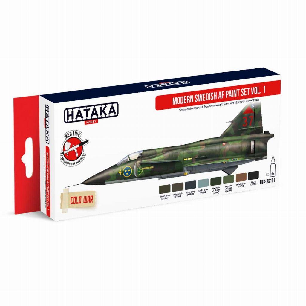 【再入荷】HTK-AS101 現用 スウェーデン空軍 Vol.1 水性アクリルカラー8本セット