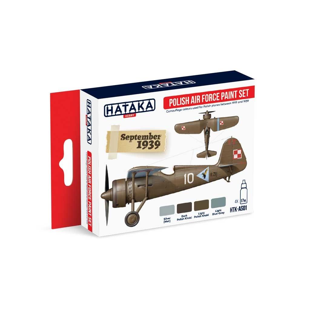 【再入荷】HTK-AS01 WWII ポーランド空軍 水性アクリルカラー4本セット