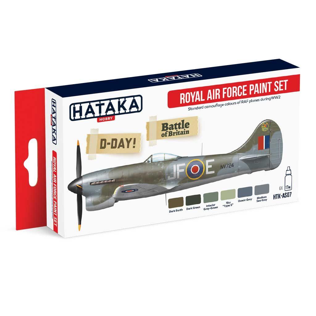【再入荷】HTK-AS07 WWII イギリス空軍 水性アクリルカラー6本セット