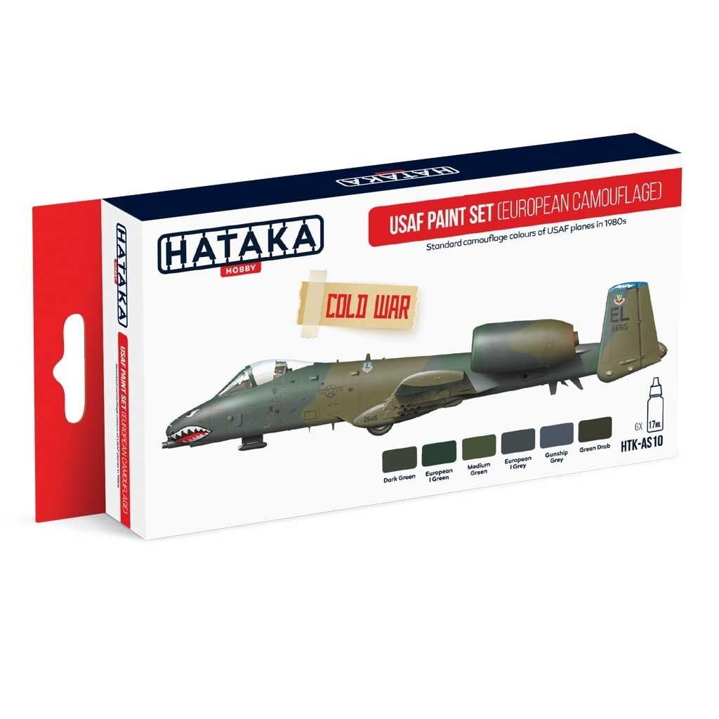 【再入荷】HTK-AS10 アメリカ空軍ヨーロッパ迷彩 1980年代 水性アクリルカラー6本セット