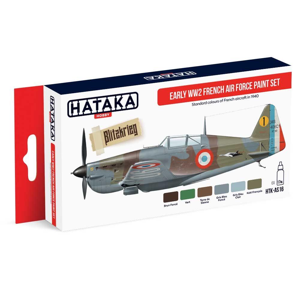 【再入荷】HTK-AS16 WWII フランス空軍 初期 水性アクリルカラー6本セット