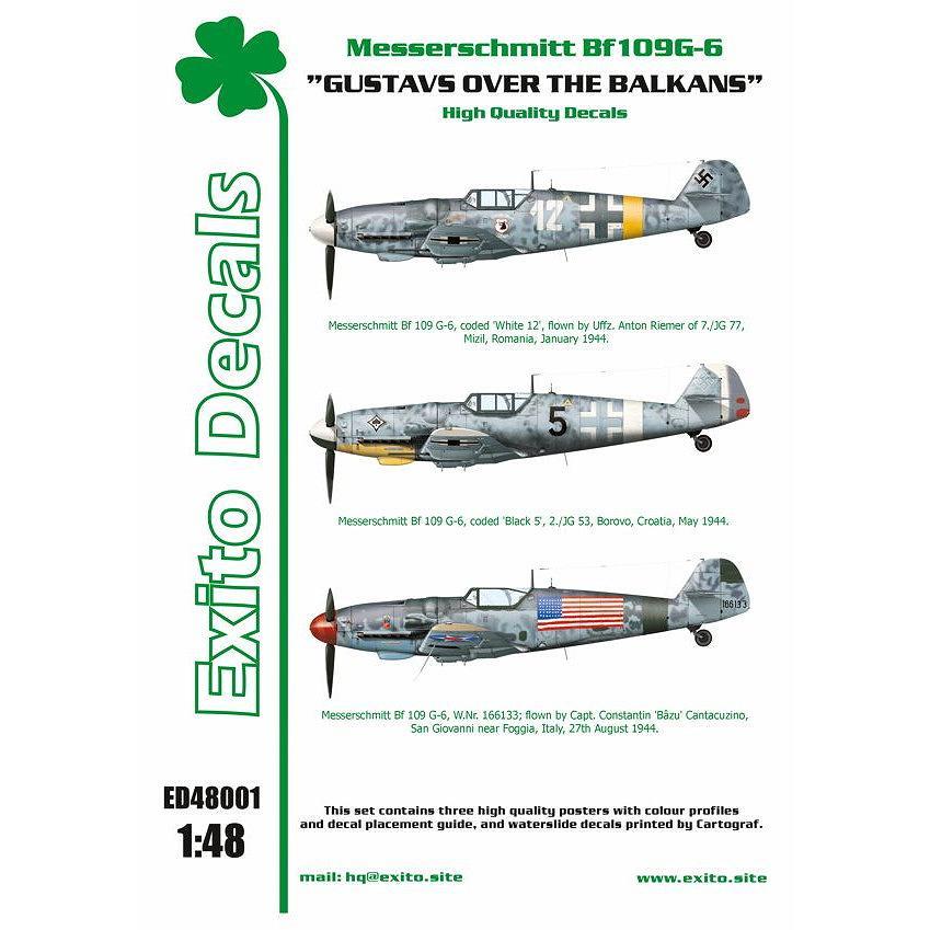 【新製品】Exito Decals 48001 メッサーシュミット Bf109G-6 バルカン半島のグスタフ