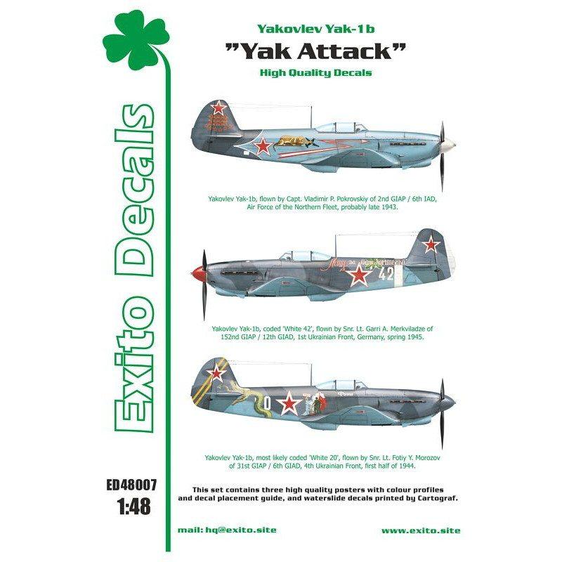 """【新製品】Exito Decals 48007 ヤコブレフ Yak-1b """"Yak Attack"""