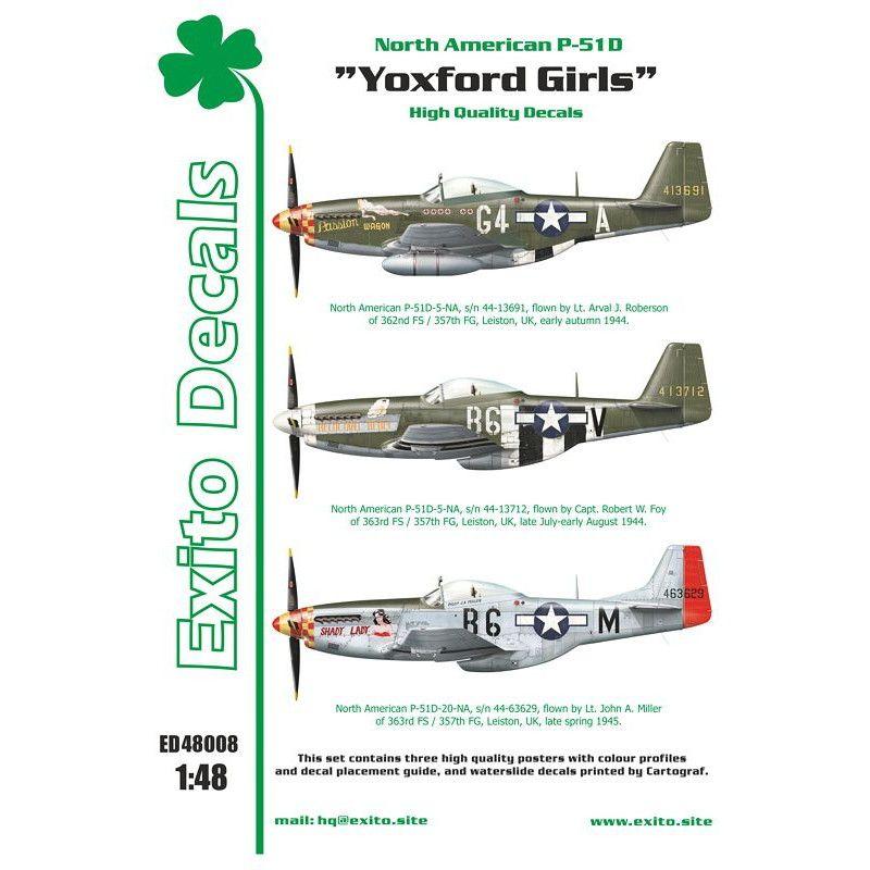 【新製品】Exito Decals 48008 ノースアメリカン P-51D マスタング