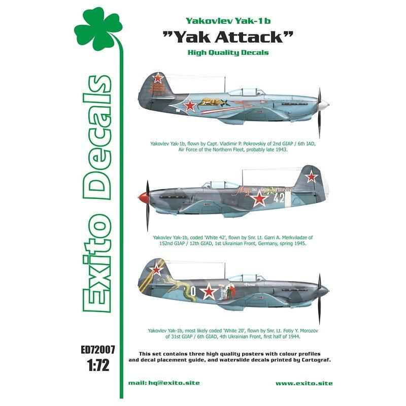 """【新製品】Exito Decals 72007 ヤコブレフ Yak-1b """"Yak Attack"""