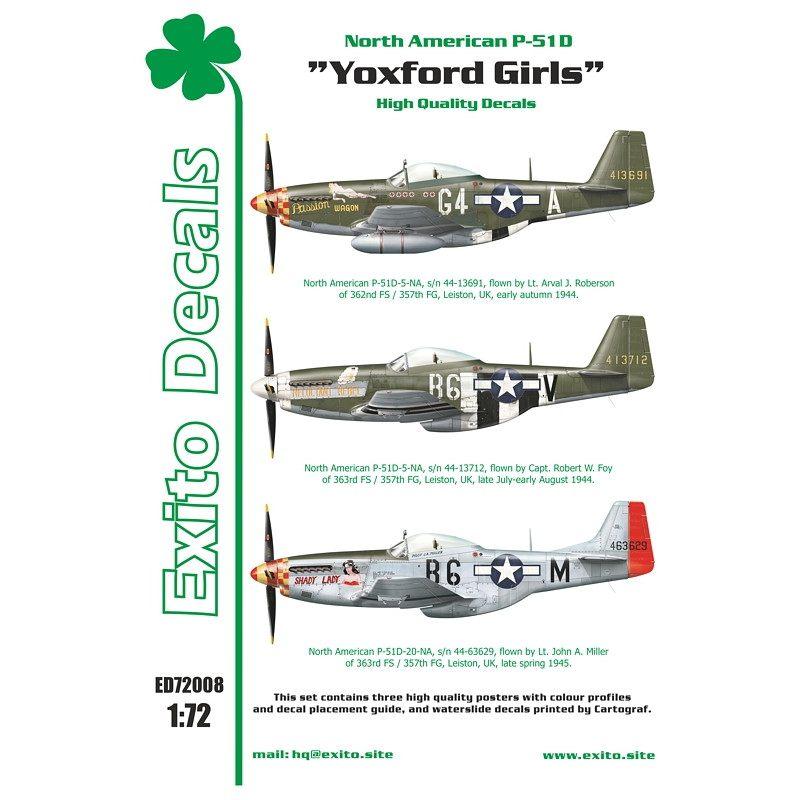 【新製品】Exito Decals 72008 ノースアメリカン P-51D マスタング