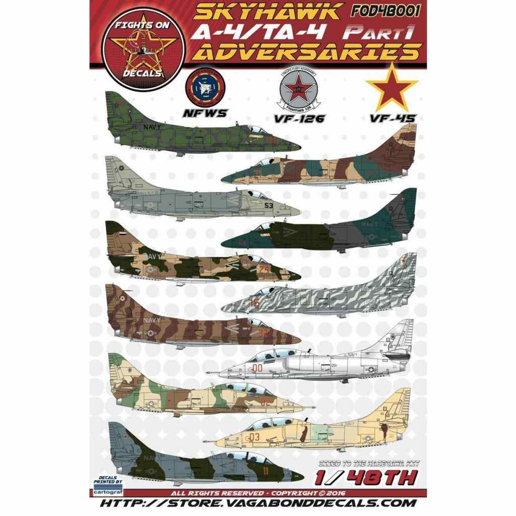 【新製品】Fights On Decals FOD48001)A-4/TA-4 スカイホーク アドバーサリーズ Pt.1