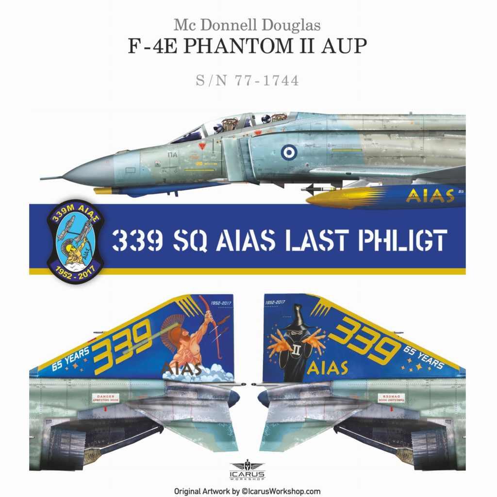 【新製品】Procal Decals 72-902 マクドネル・ダグラス F-4E ファントムII AUP 339 Sqn AIAS LAST PHLIGHT
