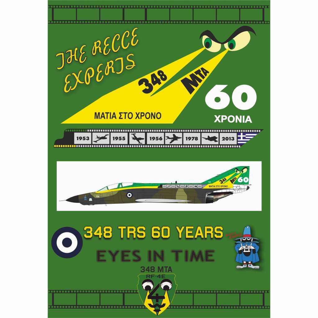 【新製品】Procal Decals 72-903 マクドネル・ダグラス F-4E ファントムII 348 sq TRS 60 YEARS is the origin
