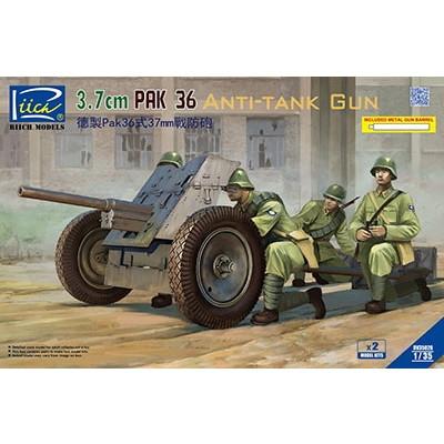 【新製品】RV35026 独 3.7cmPak36対戦車砲 金属砲身 2門入り
