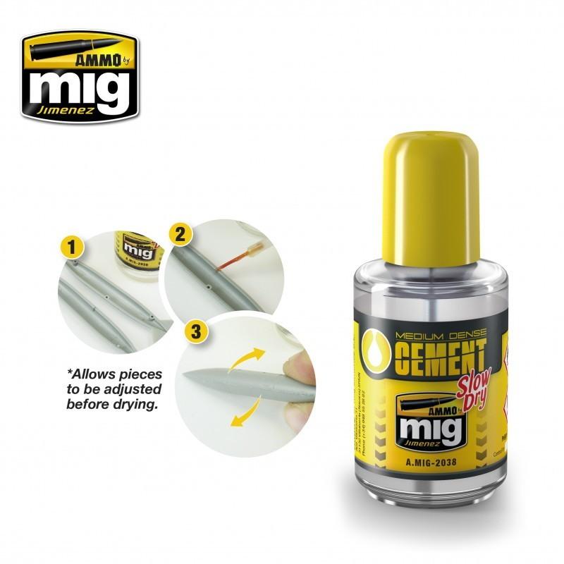 【新製品】A.MIG-2038 プラスチックモデル用接着剤 中密度 遅乾タイプ