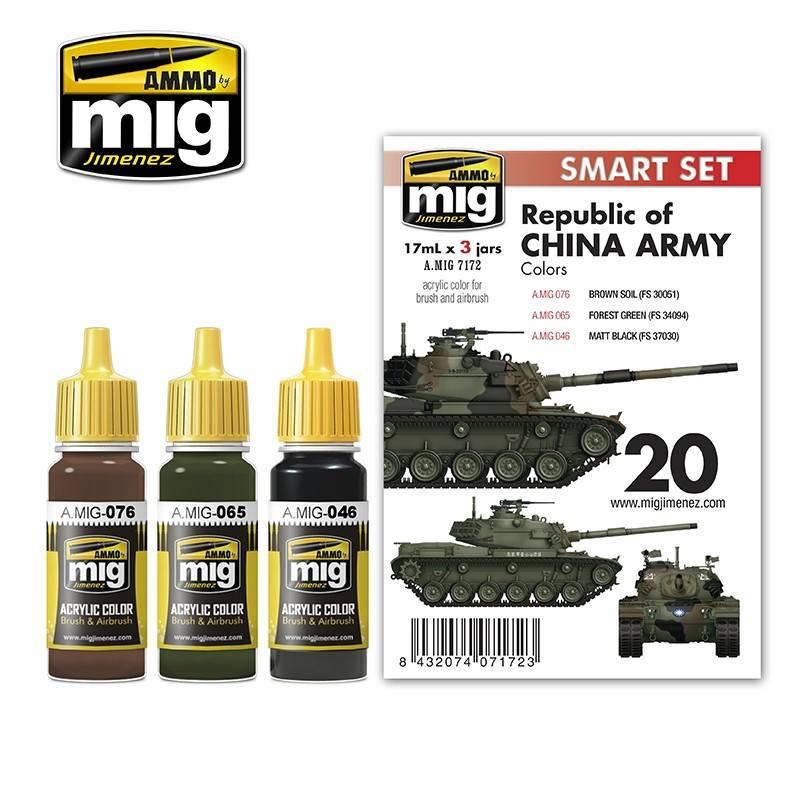 【新製品】A.MIG7172 台湾陸軍 M48H用カラーセット