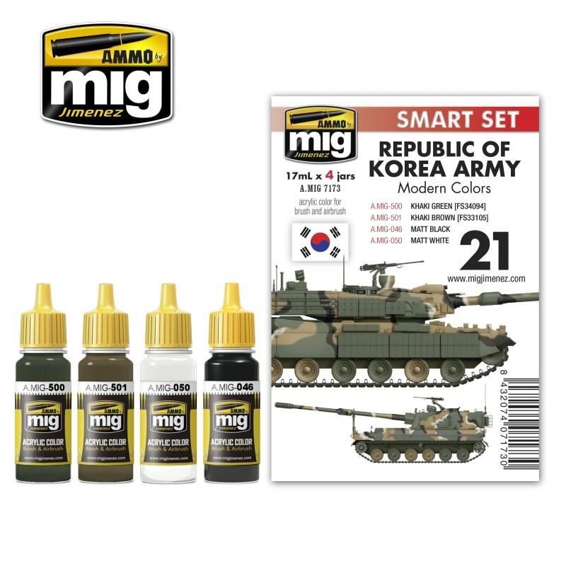 【新製品】A.MIG7173 韓国陸軍 現用カラーセット