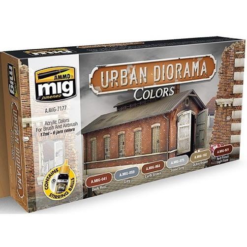 【新製品】A.MIG7177 都市のダイオラマ用カラーセット