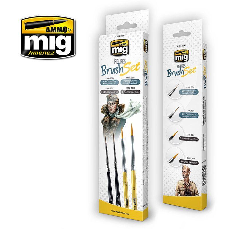【新製品】A.MIG-7600 フィギュアブラシセット 筆4本セット