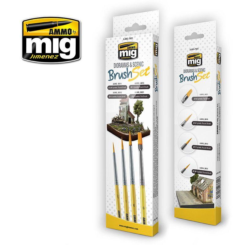 【新製品】A.MIG-7601 情景用ブラシセット 筆4本セット