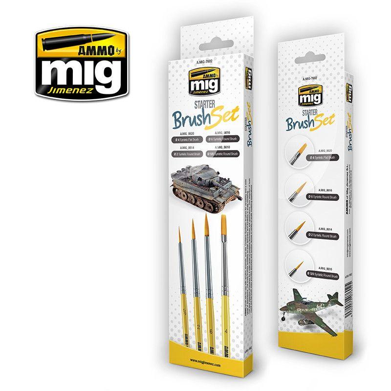 【新製品】A.MIG-7602 スターターブラシセット 筆4本セット