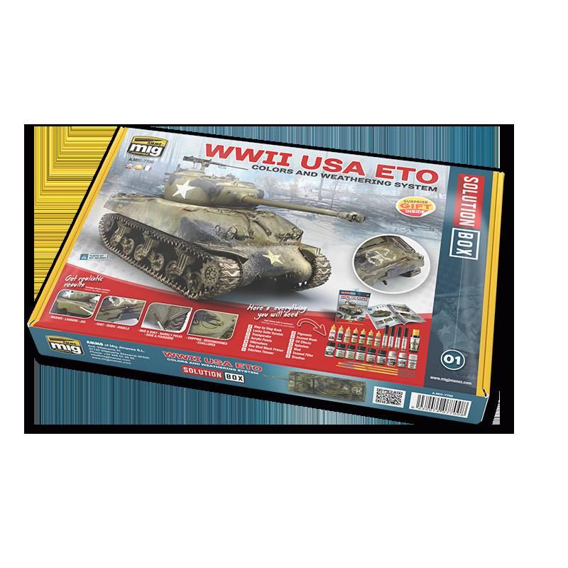 【新製品】A.MIG7700 ソリューションボックス:WWII ヨーロッパのアメリカ軍車両