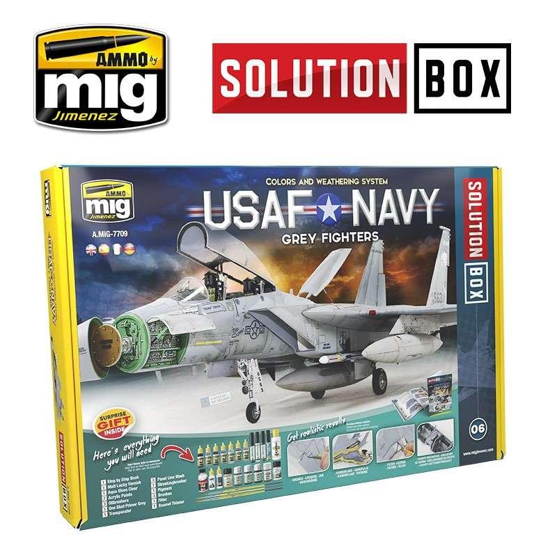 【新製品】A.MIG7709 ソリューションボックス 06:アメリカ空/海軍 「グレーファイターズ」