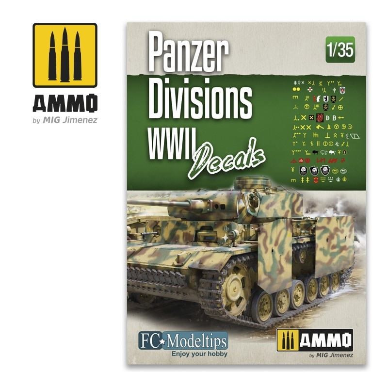 【新製品】A.MIG-8061 WWII ドイツ軍 機甲師団識別 マークデカール