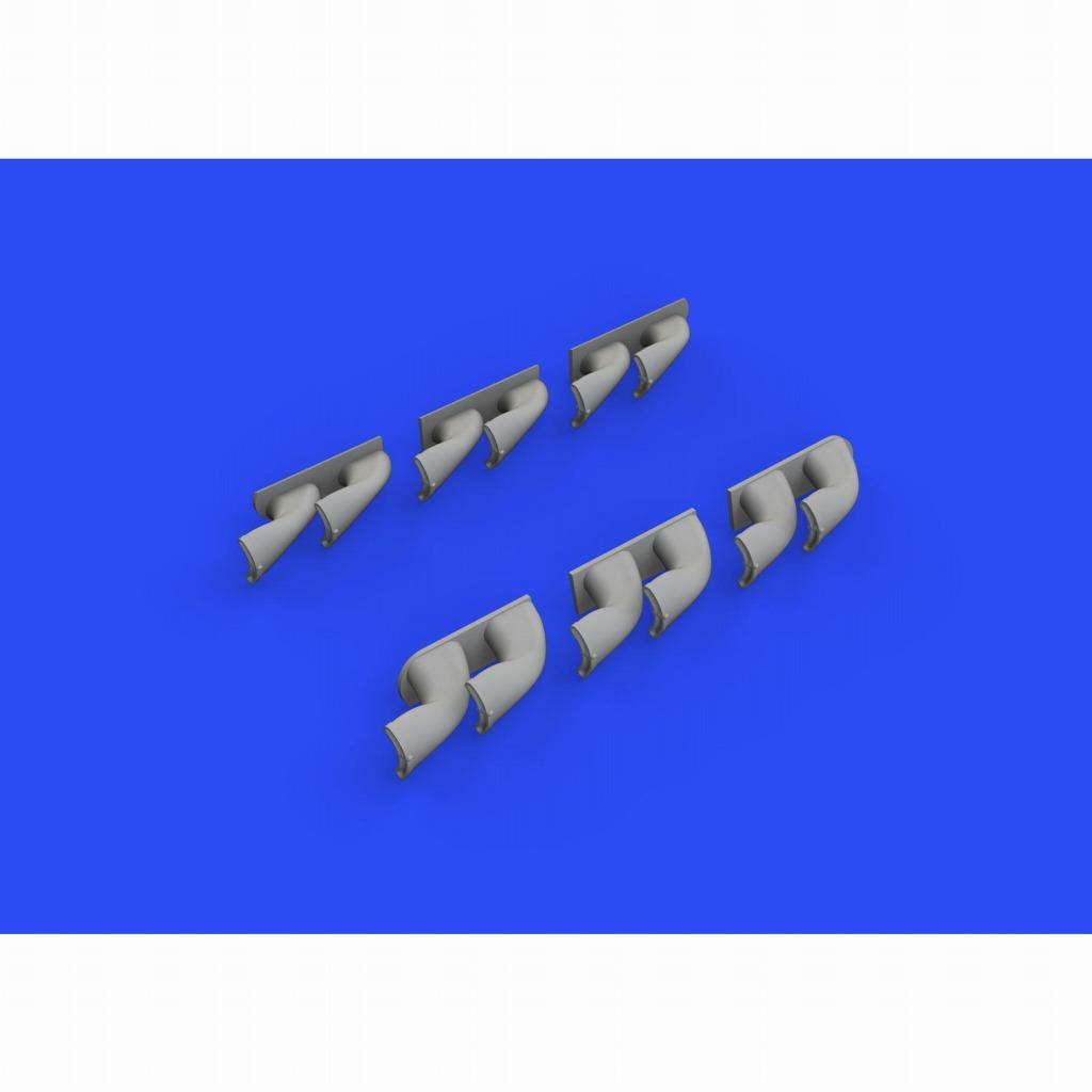 【新製品】ブラッシン632139 カーチス P-40 排気管 (フィッシュテール型)(ハセガワ/エデュアルド用)