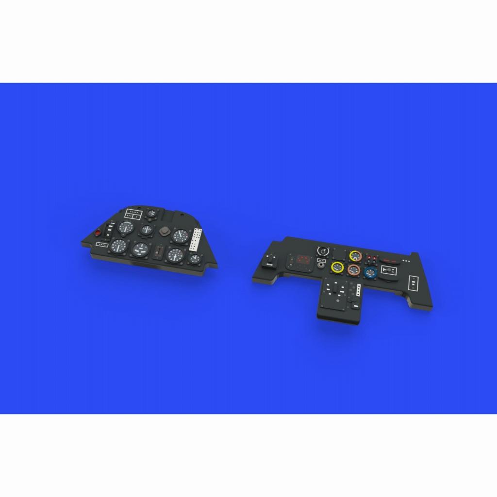【新製品】ルック644024 メッサーシュミット Bf109E 計器盤 (エデュアルド用)