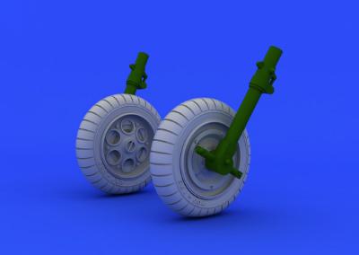 【再入荷】ブラッシン648152 フォッケウルフ Fw190 ホイール&タイヤ 初期型