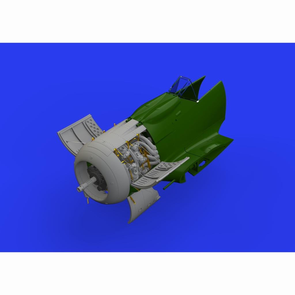【新製品】ブラッシン648461 フォッケウルフ Fw190A-8 エンジン (エデュアルド用)