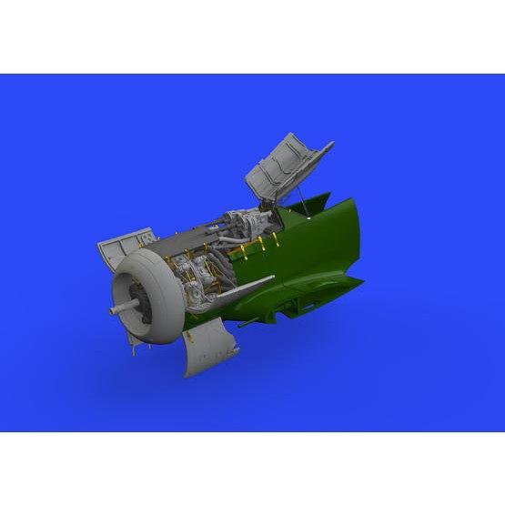 【新製品】ブラッシン648464 フォッケウルフ Fw190A-8 エンジン & 胴体内機銃 (エデュアルド用)