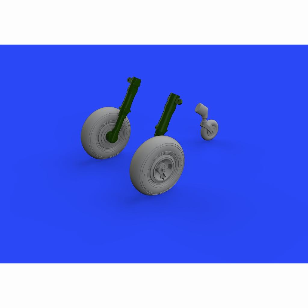 【新製品】ブラッシン648468 スーパーマリン スピットファイア Mk.XIV ホイール&タイヤ 4スポーク