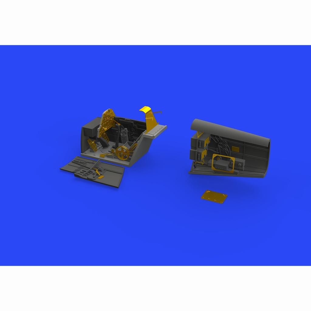 【新製品】ブラッシン648472 メッサーシュミット Bf109E コックピット & 無線室 (エデュアルド用)