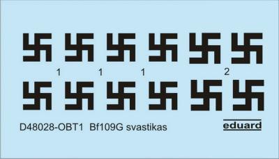 【新製品】D48028)メッサーシュミット Bf109G ハーケンクロイツ