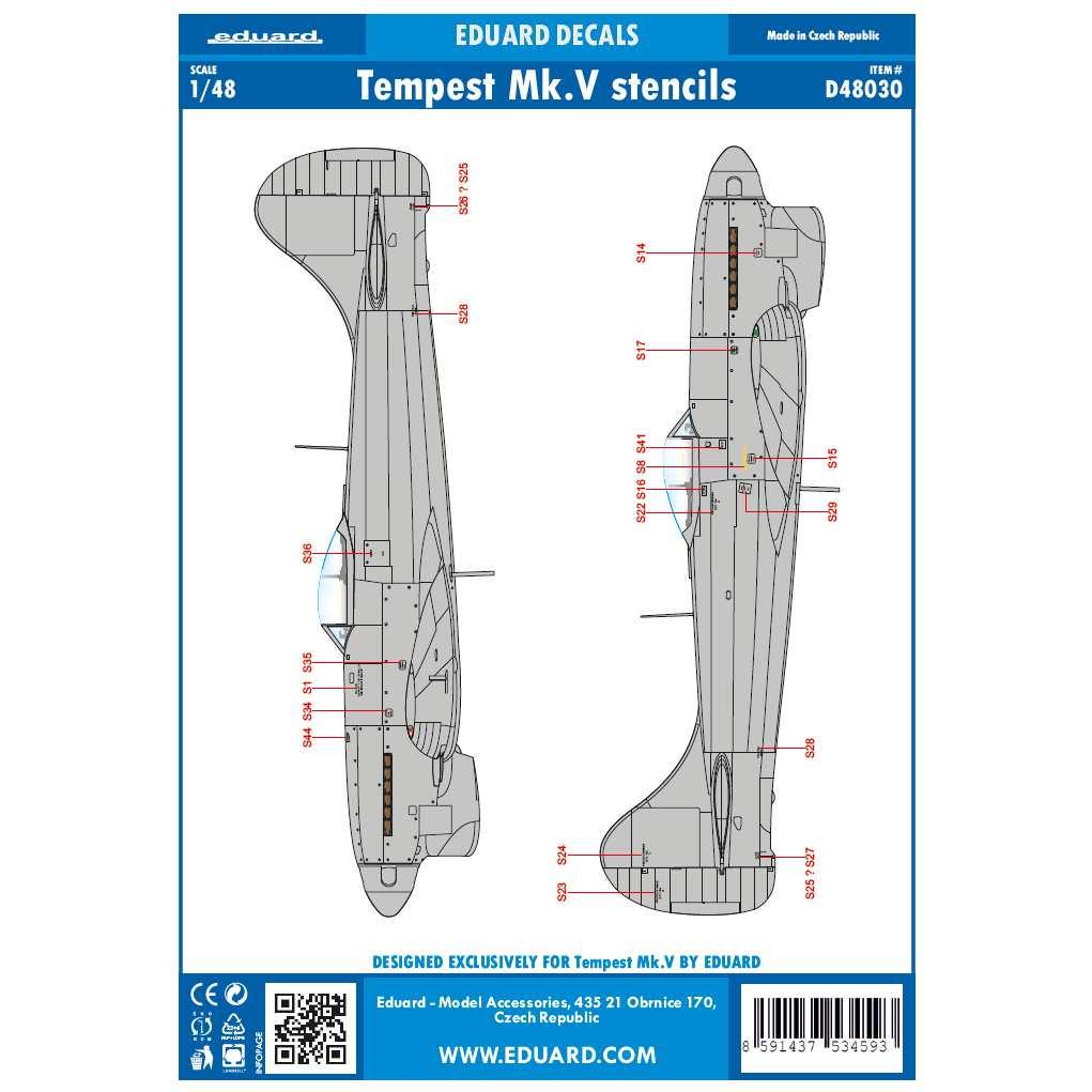 【新製品】D48030 テンペストMk.V ステンシル