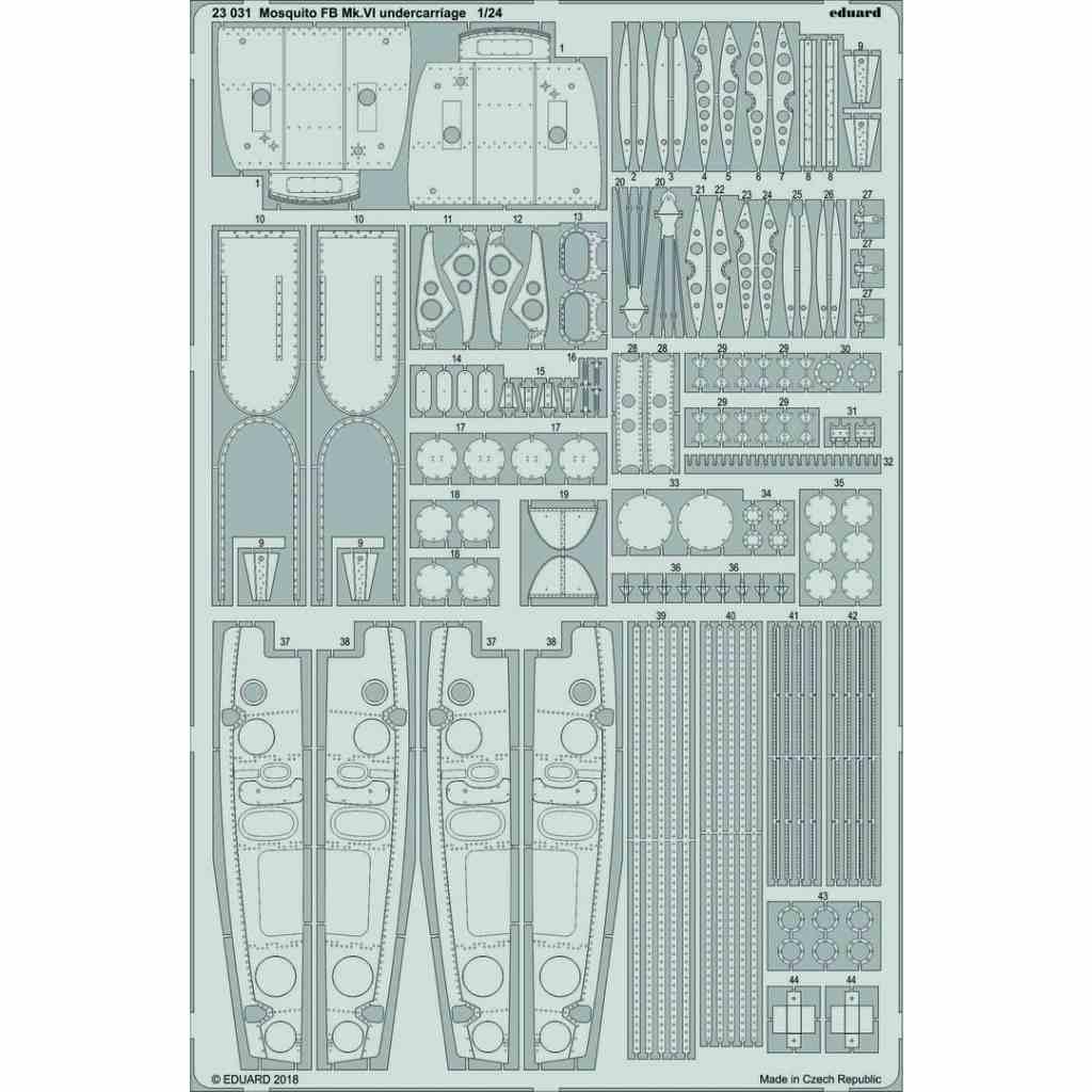【新製品】23031 モスキートFB Mk.VI 着陸装置