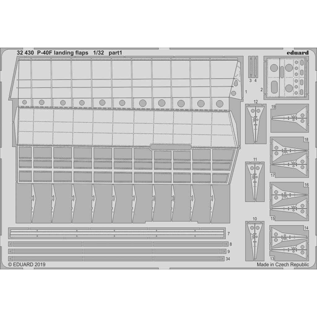 【新製品】32430 カーチス P-40F ランディングフラップ (トランぺッター用)