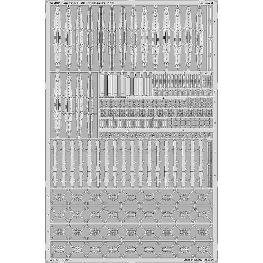 【新製品】32432 アブロ ランカスターB Mk.I 爆弾架エッチングパーツ(HKモデル)