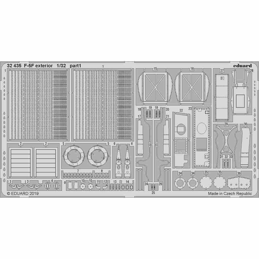 【新製品】32435 ノースロップ F-5F タイガーII 外装エッチングパーツ (キティホーク用)