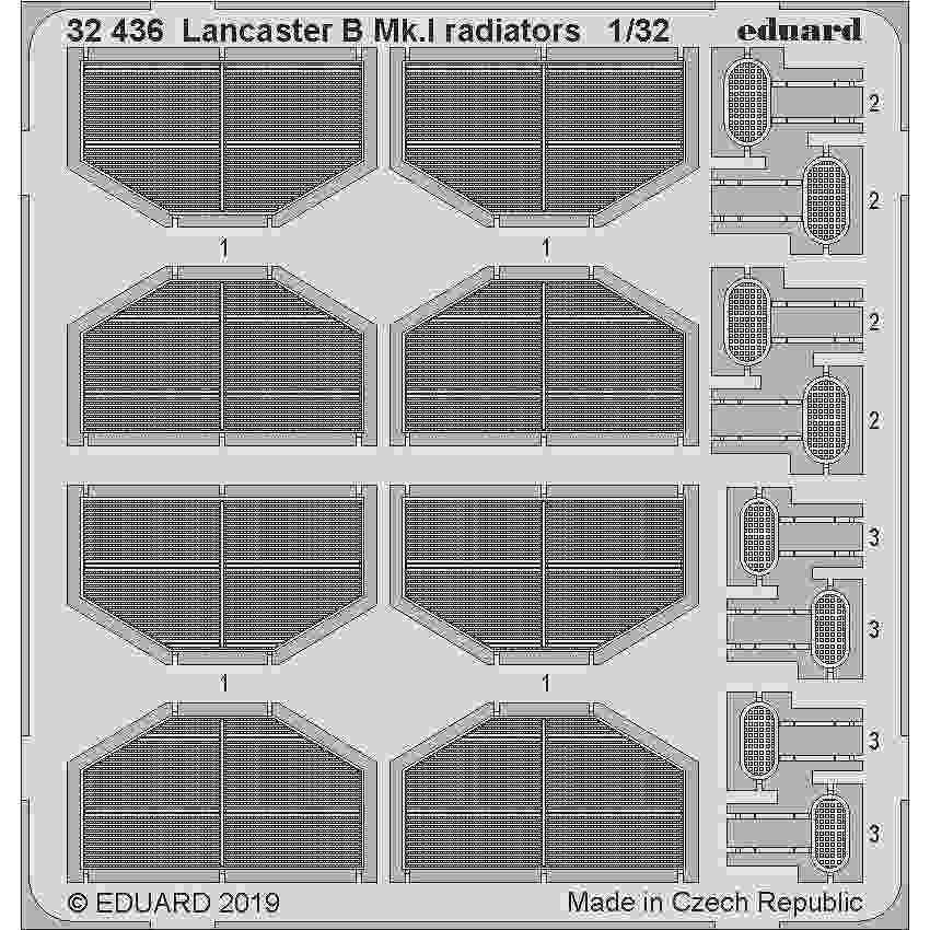 【新製品】32436 アブロ ランカスターB Mk.I ラジエーターエッチングパーツ(HKモデル)