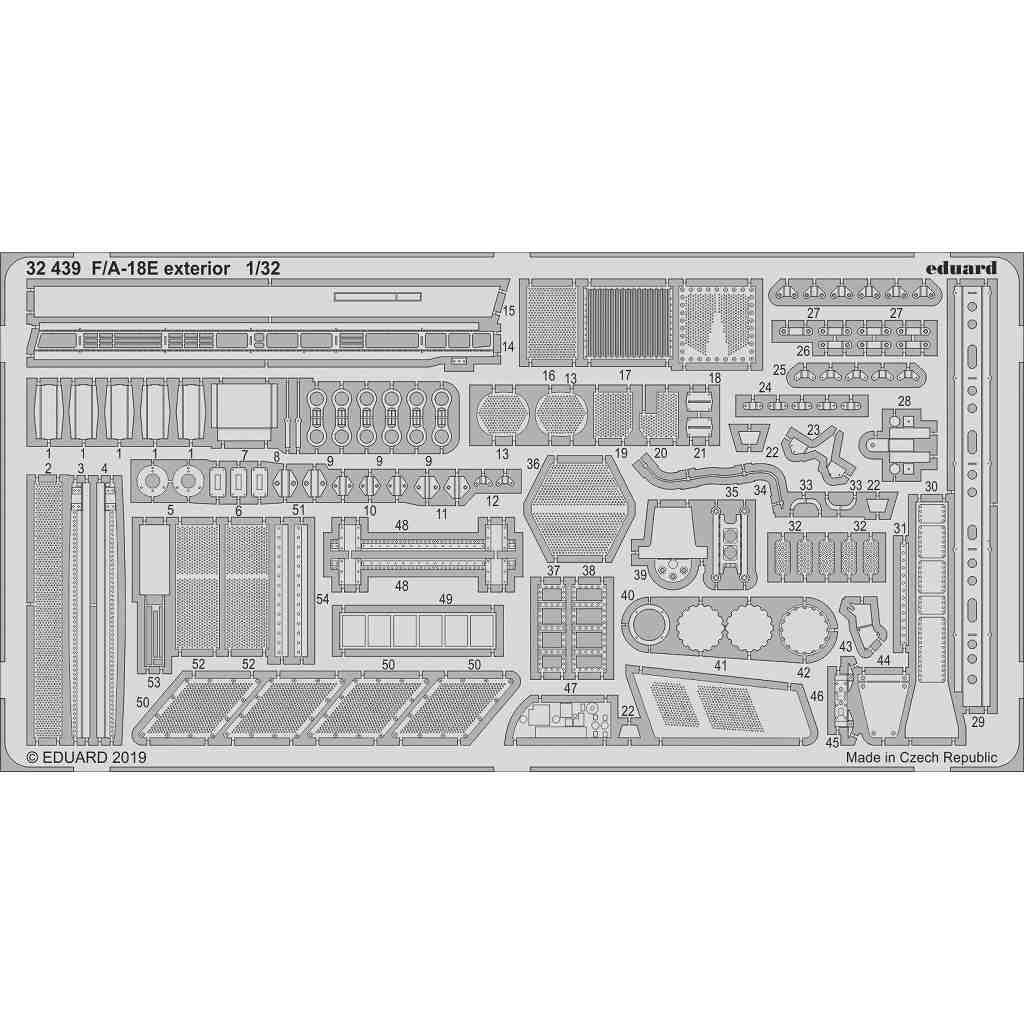 【新製品】32439 F/A-18E スーパーホーネット 外装エッチングパーツ (レベル用)