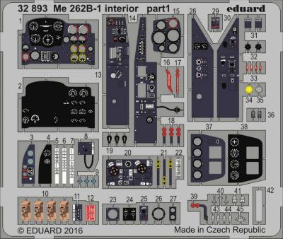 【新製品】32893)塗装済 メッサーシュミット Me262B-1 内装