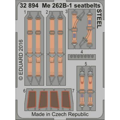 【新製品】32894)塗装済 メッサーシュミット Me262B-1 シートベルト