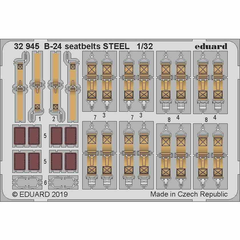 【新製品】32945 塗装済 コンソリデーテッド B-24 リベレーター シートベルト (ステンレス製) (ホビーボス用)