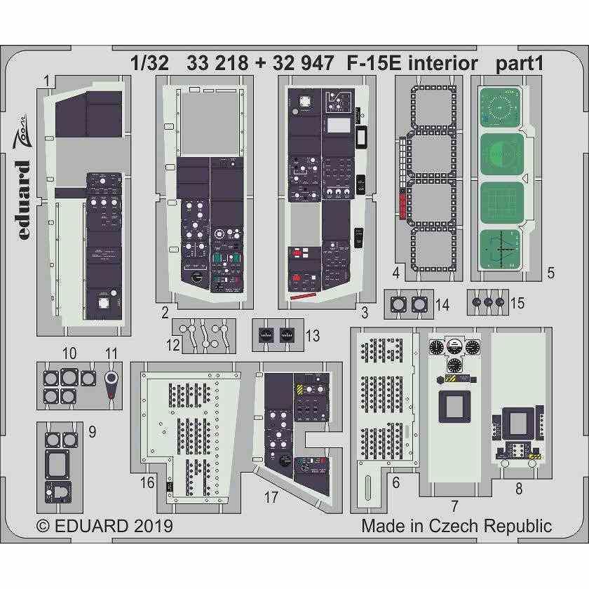 【新製品】32947 塗装済 F-15E ストライクイーグル 内装エッチングパーツ (タミヤ用)