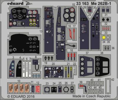 【新製品】33163)塗装済 メッサーシュミット Me262B-1 計器盤