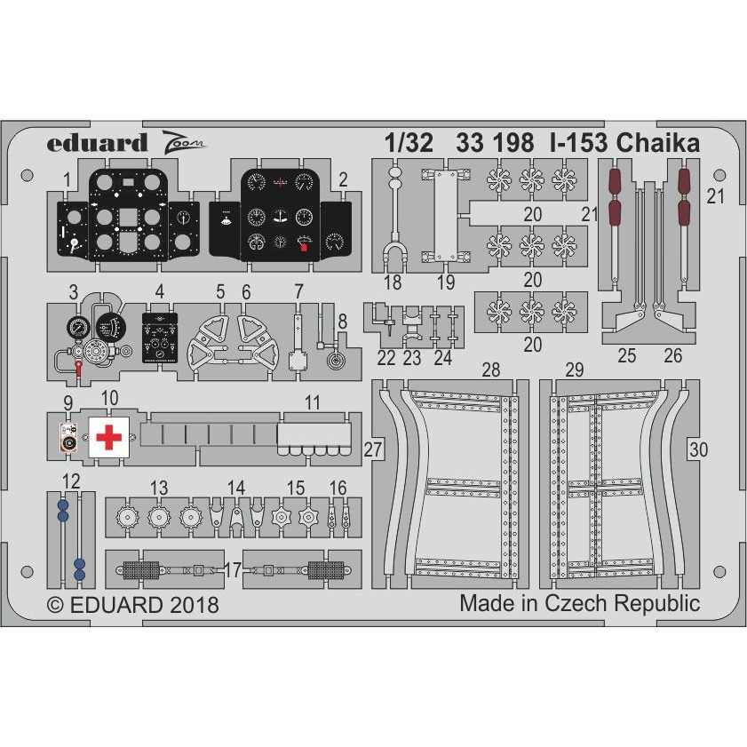 【新製品】33198 塗装済 ポリカルポフ I-153 チャイカ
