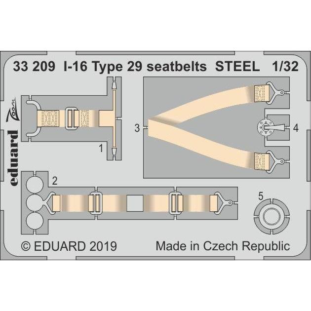 【新製品】33209 塗装済 I-16 タイプ29 シートベルト