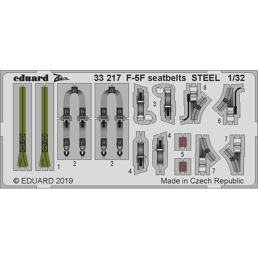【新製品】33217 塗装済 ノースロップ F-5F タイガーII シートベルト (ステンレス製) (キティホーク用)