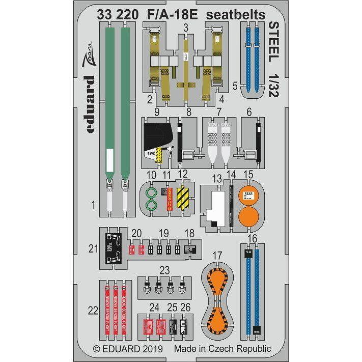 【新製品】33220 塗装済 F/A-18E スーパーホーネット シートベルト (ステンレス製) (レベル用)